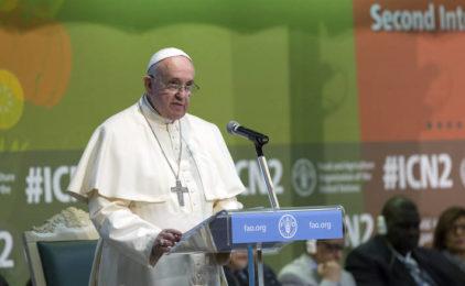 Papa: Borite se protiv gladi u svijetu