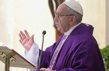 Papa je citirao tekst  iz svetog pisma »Doista, stvorenje sa svom žudnjom iščekuje ovo objavljenje sinova Božjih« (Rim 8, 19)