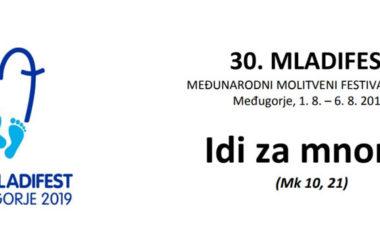 30. Mladifest u Međugorju od 1.8.2019 do 6.8.2019