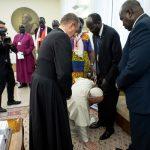 Devet mjeseci nakon Papine ponizne geste rođen je mir među sukobljenim stranama u Južnom Sudanu