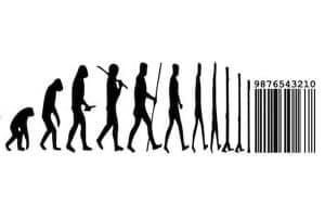 Slika 3: Neo-darwinizam? Od majmuna do homo sapiensa pa do digitalnog koda (ne)'svijesti!?